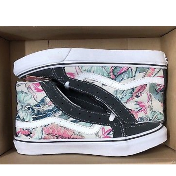 d857460e63 Vans Sk8 Hi Slim Tropical Multi White Floral Shoes